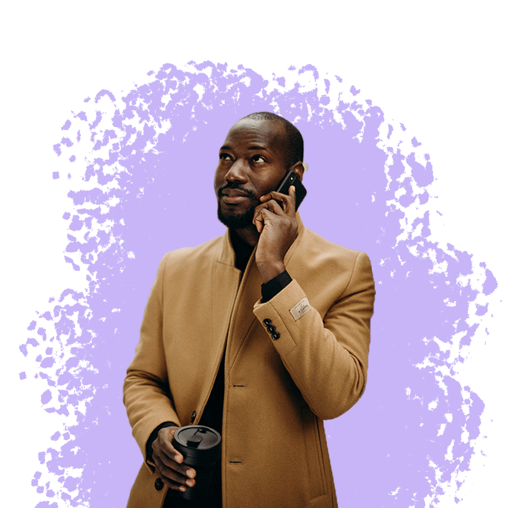 Phone Guy Long Jacket purple spash