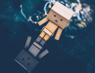 Sad Cardboard guy