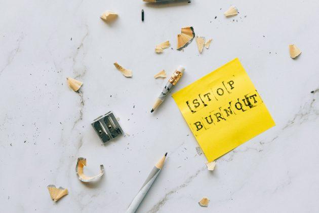 Stop Burnout Sticky Note