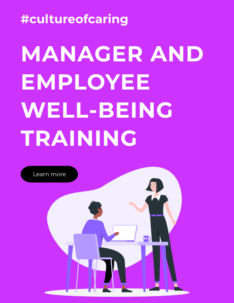MANAGER AND EMPLOYEE WELL-BEING training